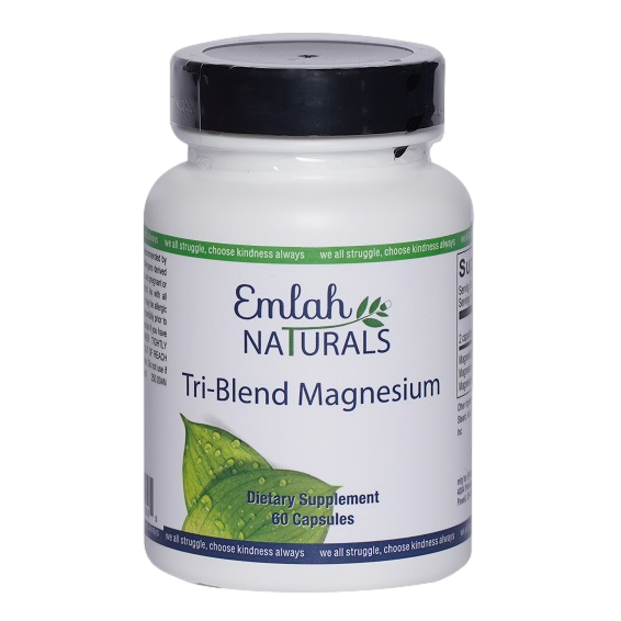 Emlah Naturals Tri-Blend Magnesium 60ct