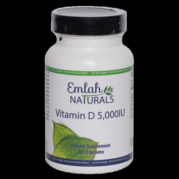 Emlah Naturals Vitamin D 5000 IU 120ct