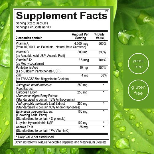 Emlah Naturals Immune Essentials Facts