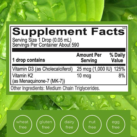 Liquid Vitamin D3 K2 Facts