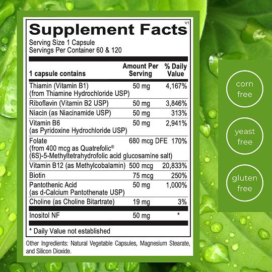 Emlah Naturals Methyl B Complex Facts